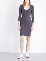 James Perse Scoop-neck stretch-cotton dress