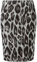 Lanvin leopard skirt