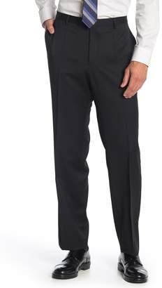 BOSS Leenon Black Solid Wool Pants