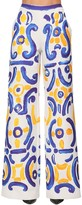 Moschino PRINTED DUCHESSE WIDE LEG PANTS