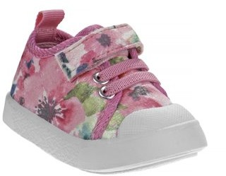 Beverly Hills Polo Club First Walker Floral Bump Toe Sneakers (Infant Girls)