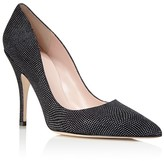 Kate Spade Licorice Metallic Embossed Suede Pointed Toe High Heel Pumps