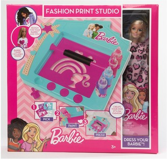 Barbie print studio with Doll
