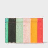 Paul Smith Men's Leather 'Artist Stripe' Print Credit Card Holder