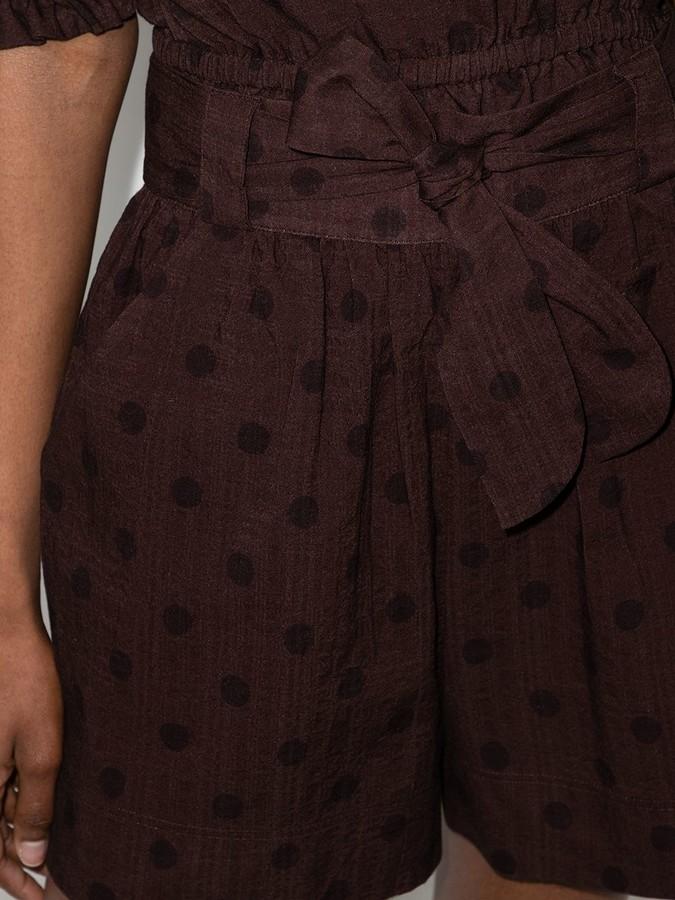 Thumbnail for your product : Peony Swimwear Raisin polka dot shorts