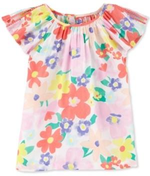 Carter's Little & Big Girls Floral-Print Poplin Top