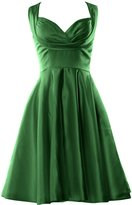 MACloth Women Fitted Sweetheart Knee length Wedding Party Bridesmaid Dress