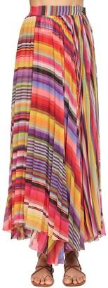 Etro Printed Georgette Midi Skirt