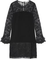 Diane von Furstenberg Lavana silk chiffon-trimmed lace and crepe mini dress
