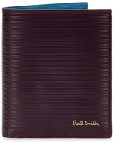 Paul Smith Plum Ribbed Leather Wallet