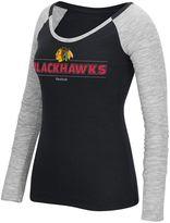 Reebok Women's Chicago Blackhawks Marled Slub Tee
