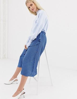 Y.A.S leaf print midi skirt