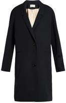 Lemaire Single-breasted wool-gabardine coat