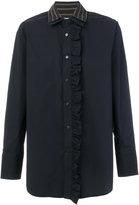 Wooyoungmi double collar ruffled shirt