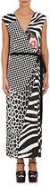 Marc Jacobs Women's Mixed-Print Wrap Maxi Dress