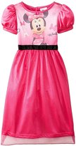 Disney Girls Minnie Mouse Fancy Nightgown Pajamas (, Minnie)