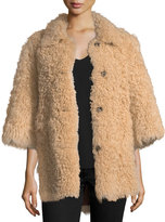 RED Valentino Reversible Shearling/Suede Coat