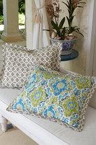 Soft Surroundings Ravello Bed Sham - Blue/green Ikat