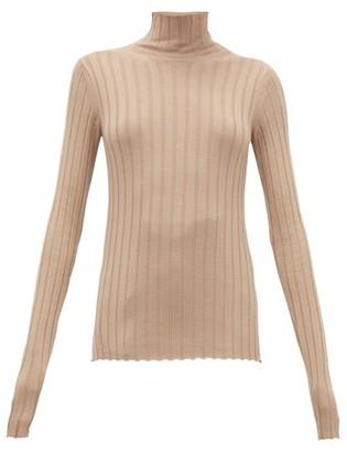Petar Petrov Karen High-neck Ribbed Merino-wool Sweater - Womens - Tan