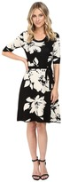 Christin Michaels Jainne Floral Sweater Dress with Belt