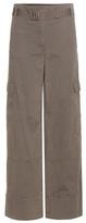Helmut Lang Wide-leg cotton and linen cargo trousers