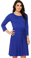 Isaac Mizrahi Live! Diamond Quilted Sweater Dress