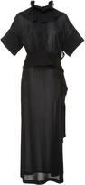 Victoria Beckham Ruffle Neck Midi Dress