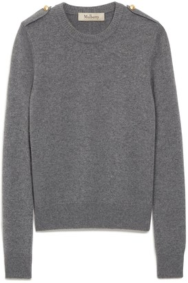 Mulberry Nancie Crew Neck Jumper Charcoal Winter Wool