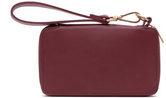Holly & Tanager Champion Zip Around Leather Wallet In Burgundy