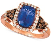 LeVian Le Vian Blueberry Tanzanite (2 ct. t.w.), Nude Diamonds (1/3 ct. t.w.) & Chocolate Diamonds (1/8 ct. t.w.) Ring Set in 14k Rose Gold