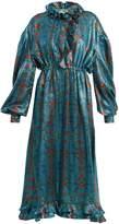 Preen by Thornton Bregazzi Linnet floral-print silk-blend lamé midi dress