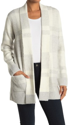 Cyrus Plaid Print Shawl Collar Cardigan