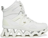 Marc by Marc Jacobs Ninja Wave mesh-trimmed leather high-top sneakers