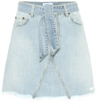Givenchy Belted denim miniskirt