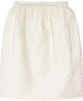 Bouclé cotton-crepe skirt