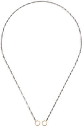 Marla Aaron 14k Yellow Gold Loops Medium Curb Silver Chain