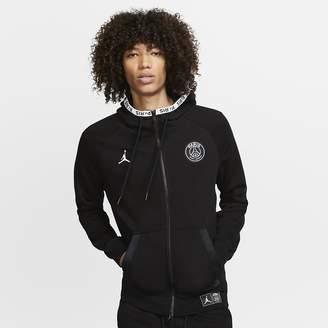 Nike Full-Zip Fleece Hoodie Paris Saint-Germain Black Cat