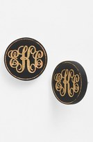 Moon and Lola Women's 'Chelsea' Medium Personalized Monogram Stud Earrings (Nordstrom Exclusive)