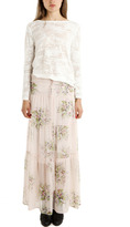 Twelfth St. By Cynthia Vincent Tiered Floral Maxi Skirt/Dress Pink