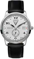 Junkers Men's FlatLine Quartz Watch with Silver Dial Analogue Display and Black Leather Strap