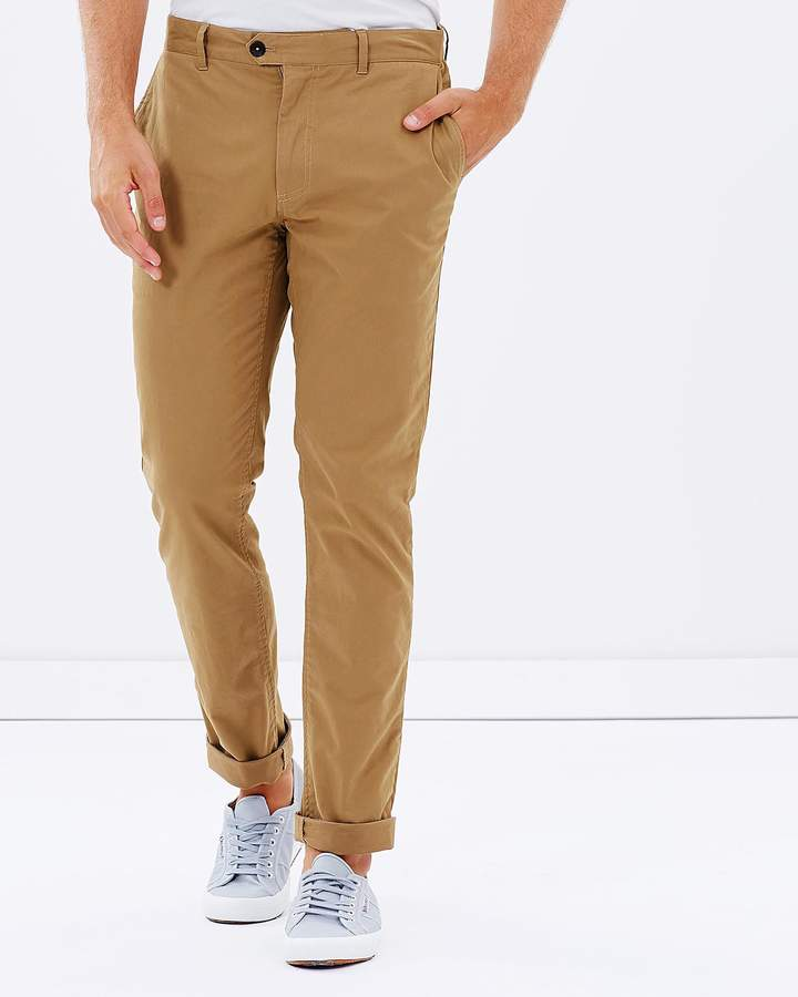 Brooksfield Cotton Stretch Slim-Fit Chinos