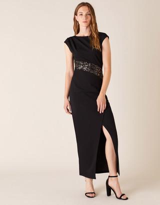 Under Armour Olive Sleeveless Sequin Maxi Dress Black