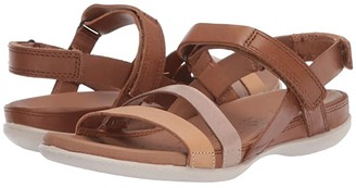 Ecco Flash Ankle Strap Sandal (Powder/Champagne Metallic/Bast) Women's Sandals