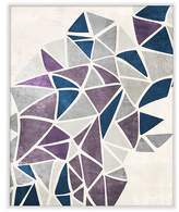 PTM Images Burst of Purple Triangles Wall Art