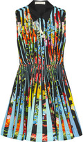 Mary Katrantzou Dew printed cotton-poplin mini dress