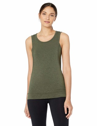 Splendid Women's Activewear Yoga Marled Jersey 2-Fer Top