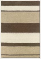 Couristan 2150/5000 Super Indo-Natural Retro Stripe/-Beige-White 3-Feet 6-Inch by 5-Feet 6-Inch Rug