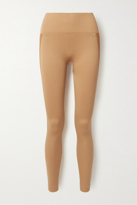 Reebok x Victoria Beckham Ribbed Stretch Leggings - Camel