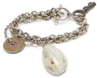 Marine Serre Shell Charm Bracelet - Womens - Silver
