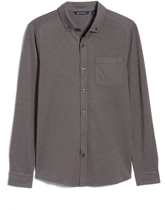 Cutter & Buck Reach Button-Down Pique Knit Shirt